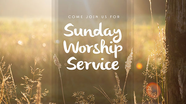 Sunday Worship Service at the Community Church, Bournemouth.