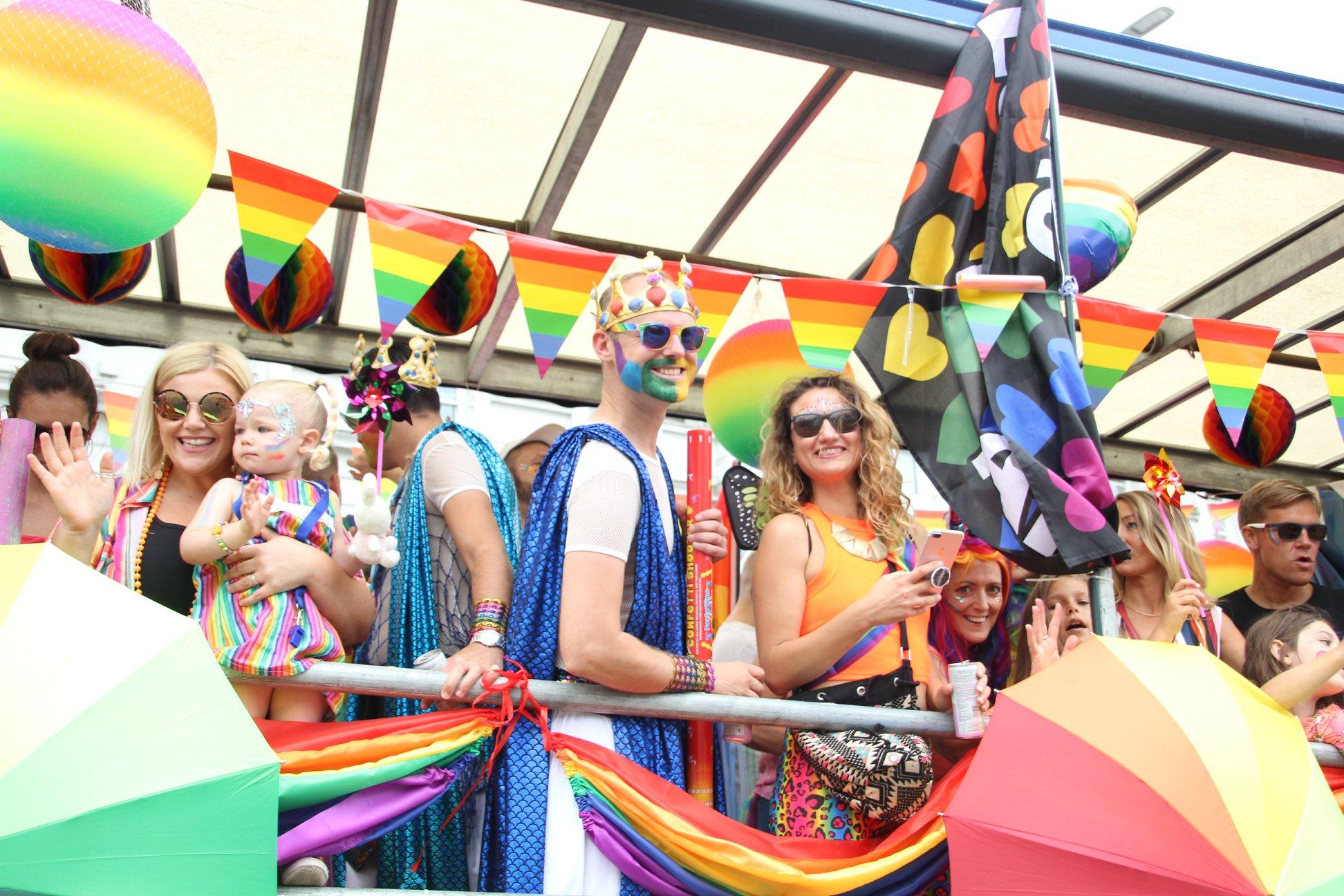 The annual LGBTQIA+ Bourne Free Parade.