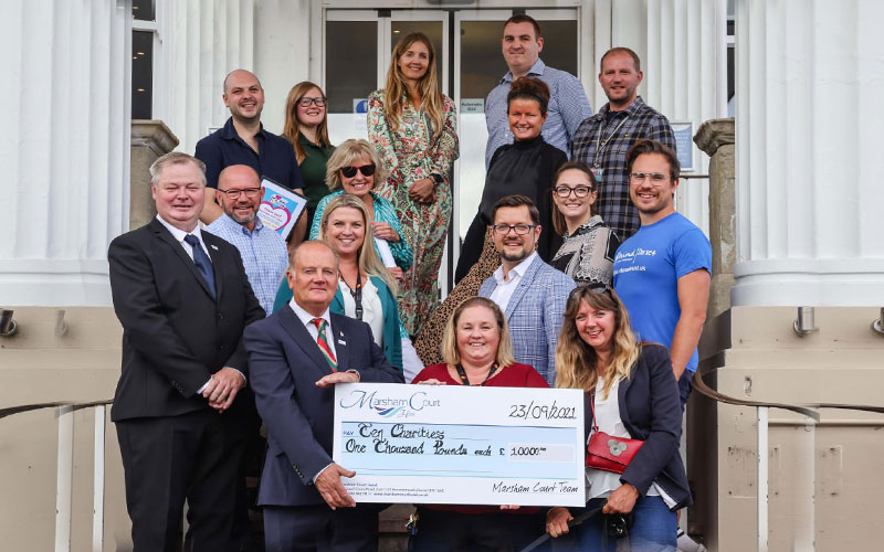 Thank you Marsham Court Hotel and guests for supporting the Bournemouth LGBTQ community with a kind donation of £1,000.